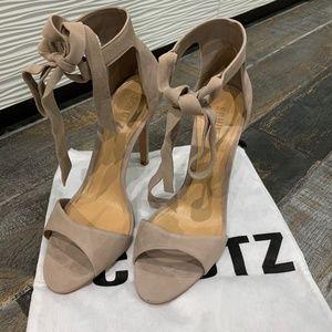 Schutz Rene Tie Sandals - Nude